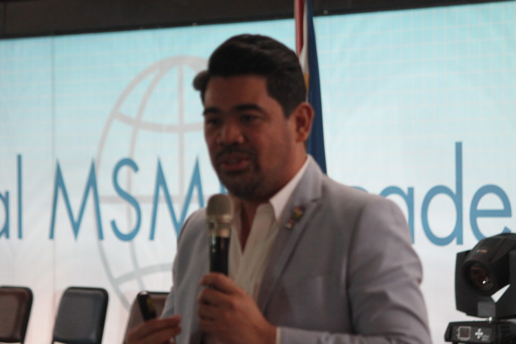Paulo Tibig during Global MSME Academy launch