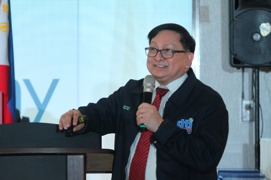 Dean Pax Lapid during the launch of Global MSME Academy