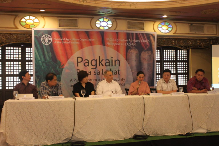 Public Forum on Food Security and Nutrition